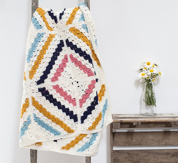 Afghan - Free Pattern | Crochet Patterns | Pinterest | Manta ...