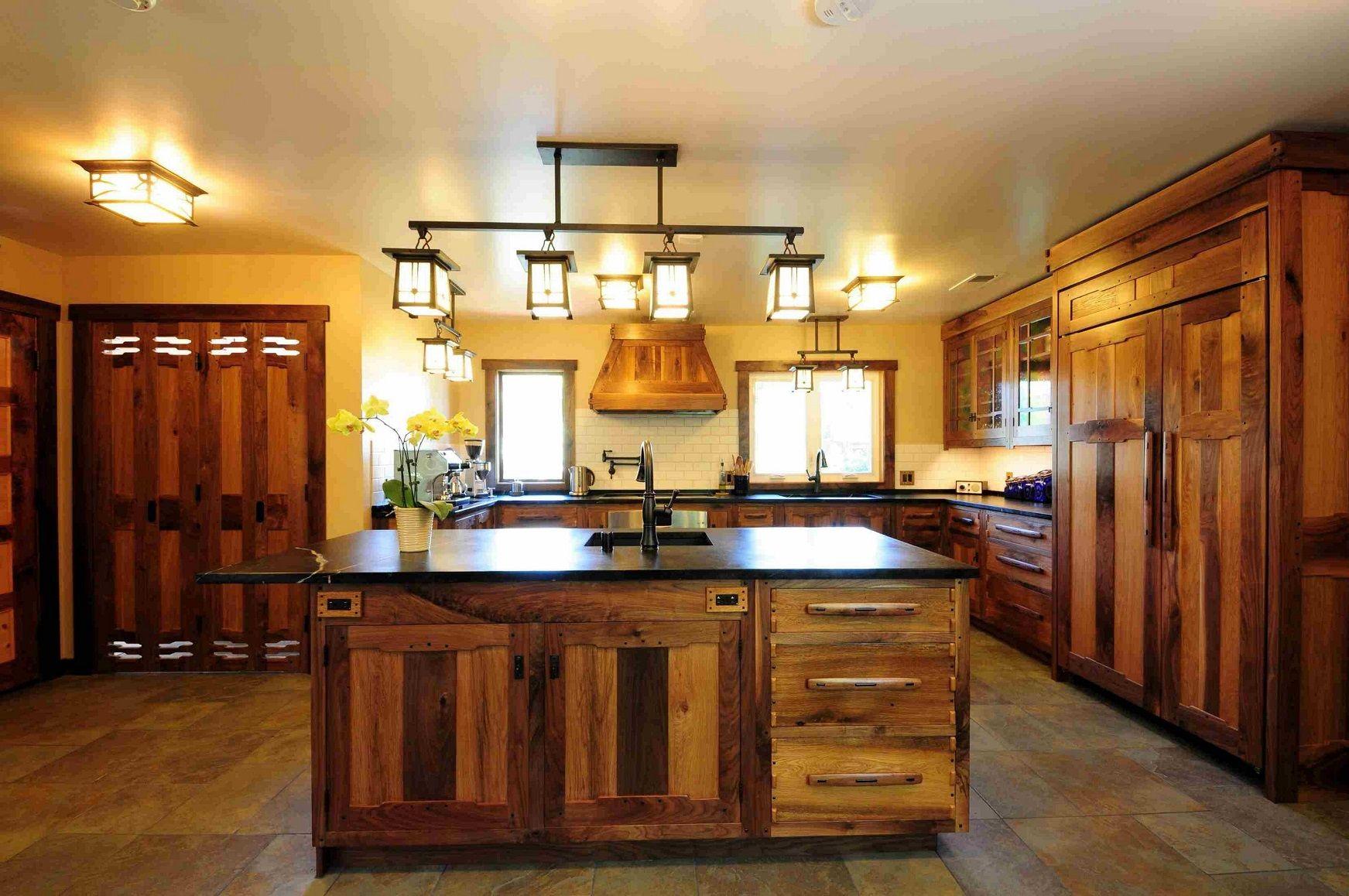 Drum Shade Pendant Light Rustic Kitchen Design Kitchen Lighting
