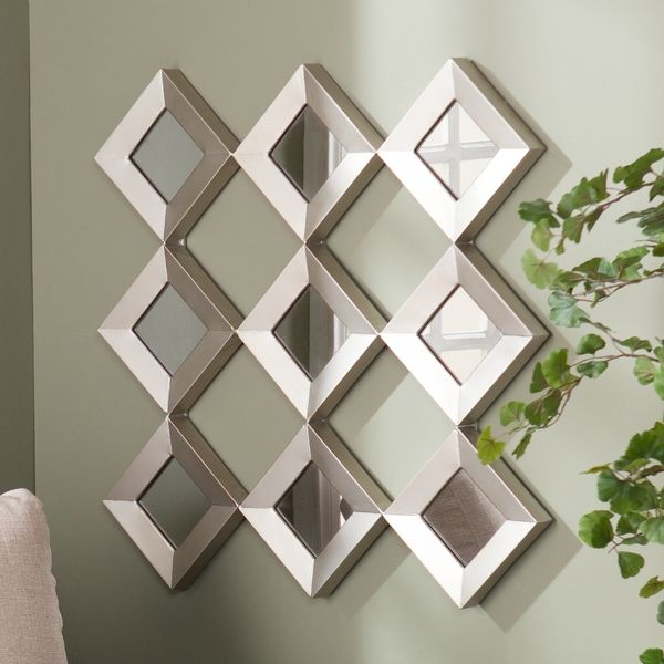Mirror Wall Sculpture harper blvd diamante mirrored squares wall sculpture | home decor