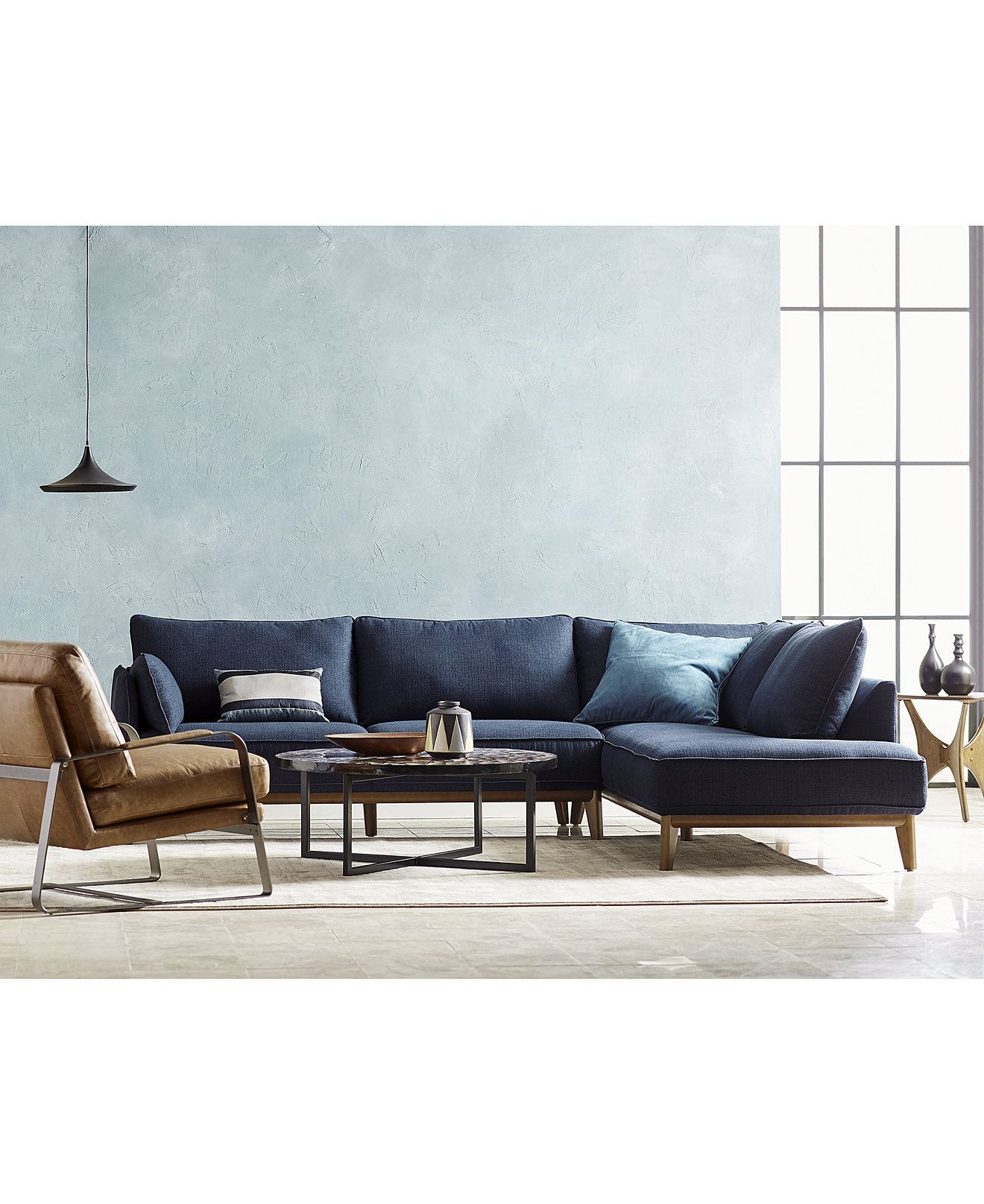 Furniture Jollene Fabric Sectional And Sofa Collection Created