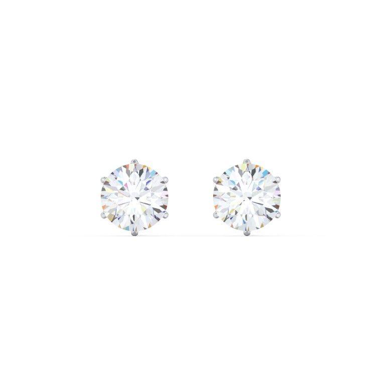 6 Prong Diamond Stud Earrings 1 2 Ct Tw 0 5 Ct Tw Diamond Earrings Studs Diamond Studs Stud Earrings