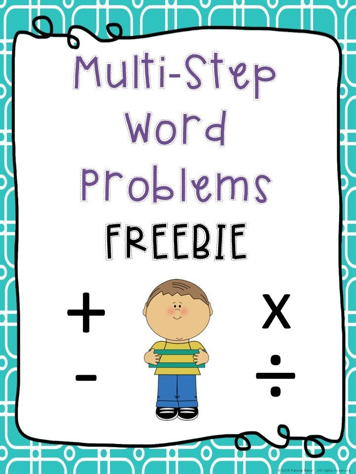 Freebie A Fun Way For Students To Solve Multi Step Word Problems
