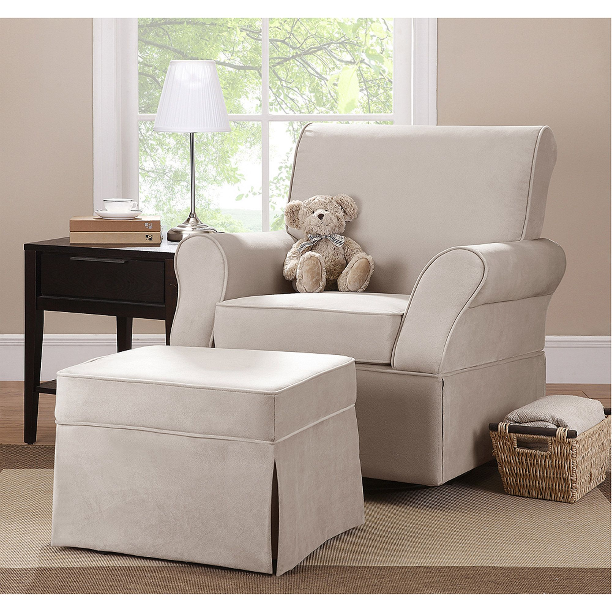 Baby Glider and ottoman, Swivel glider chair, Chair and