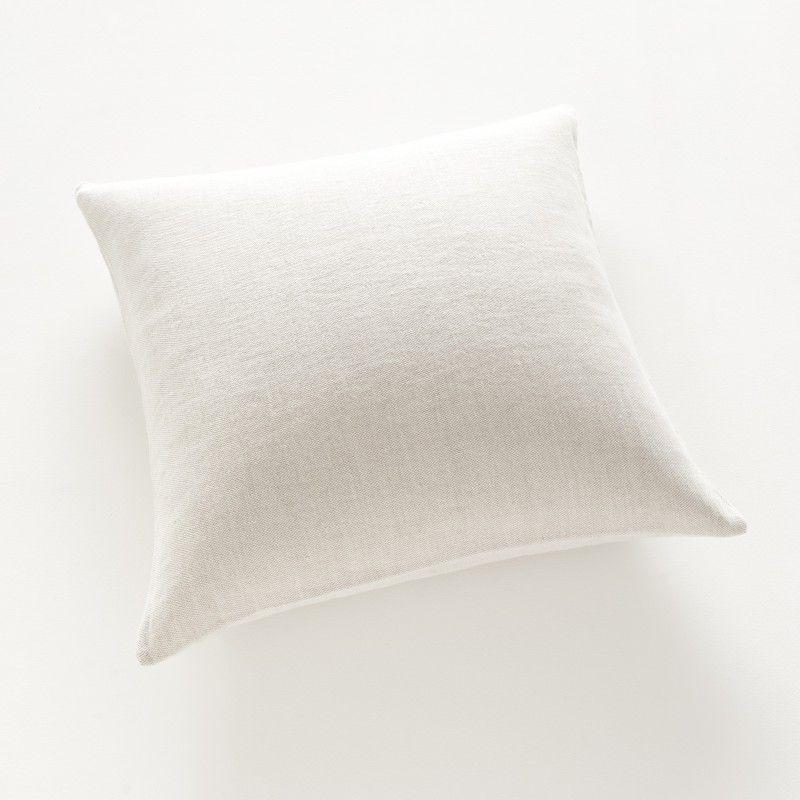 housse de coussin 65x65 en lin natt craie craie housse. Black Bedroom Furniture Sets. Home Design Ideas