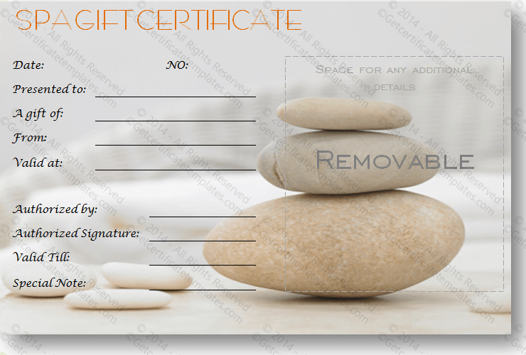Gift certificate template beautiful printable gift certificate a simple day at the spa gift certificate template yelopaper Image collections