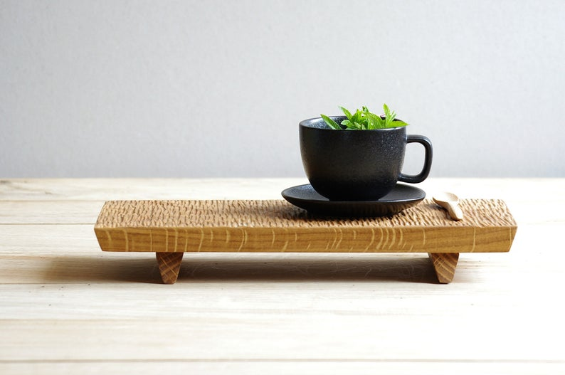 Japanese Tea Tray | Wabi Sabi | Gongfu Wood Platter | Hand Carved Wood Art | Minimalistic Decor | Ho #cuppatea