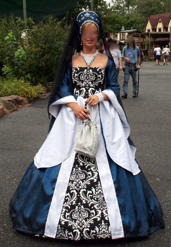Royal Blue Renaissance Dress