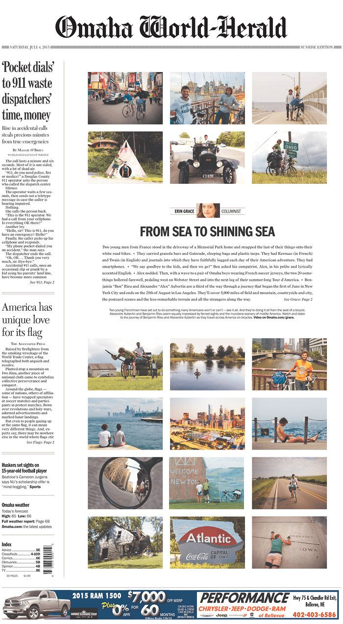 Omaha World Herald Today S Front Pages Newseum Newspaper Layout Newspaper Design Publication Design