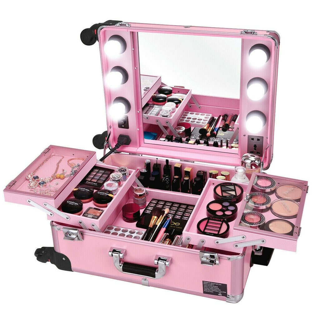 Details about Rolling Makeup Studio Girl Cosmetic Storage