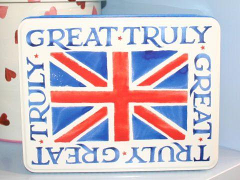 Union Jack Truly Great tin - Shabby Chic Storage