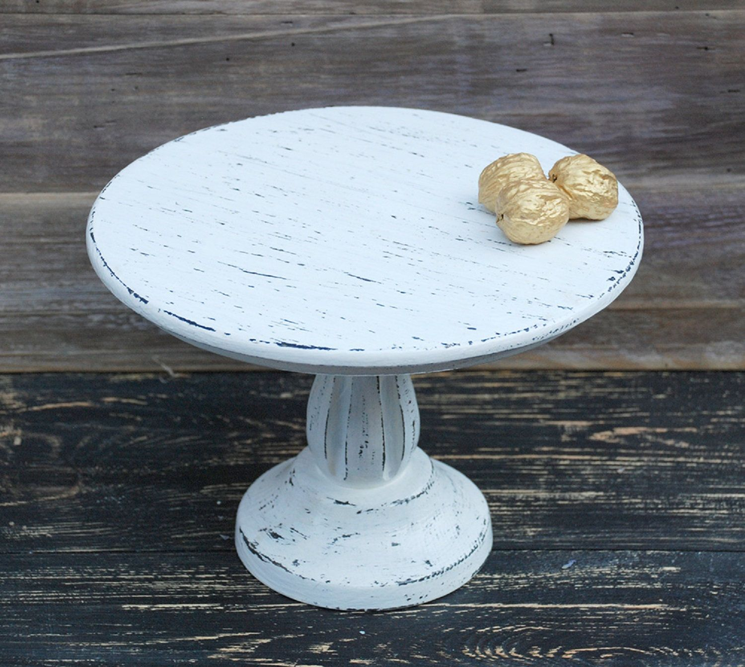 10 Inches Rustic Cake Stand Rustic Wedding Decor Wooden Cake