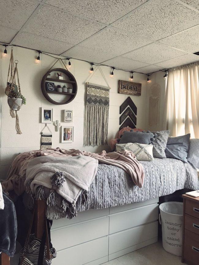 Pin von Shannon Sokolowski auf Schlafzimmer im Jahr 2019 #collegedormroomideas