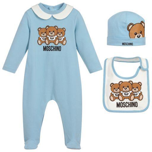 44e9015ca Moschino Baby - 3 Piece Babysuit Gift Set