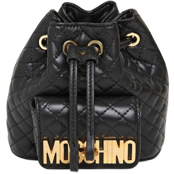 MOSCHINO Mini Quilted Leather Backpack