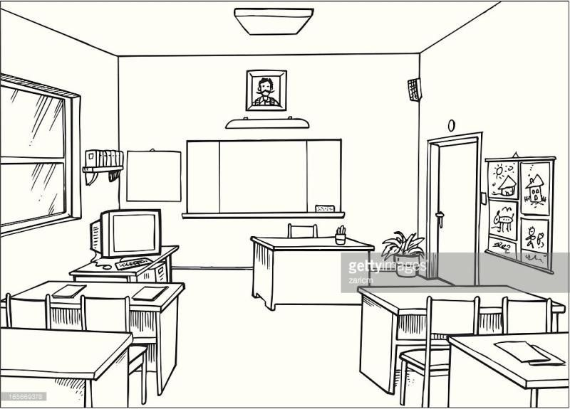 Empty Classroom Clipart Ourclipart With Regard To Empty Classroom Clipart Black And White 33545