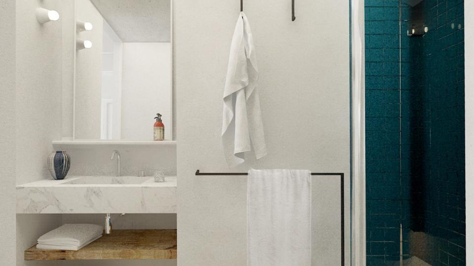 La salle de bain de la chambre Classique de l\'hôtel des Roches ...