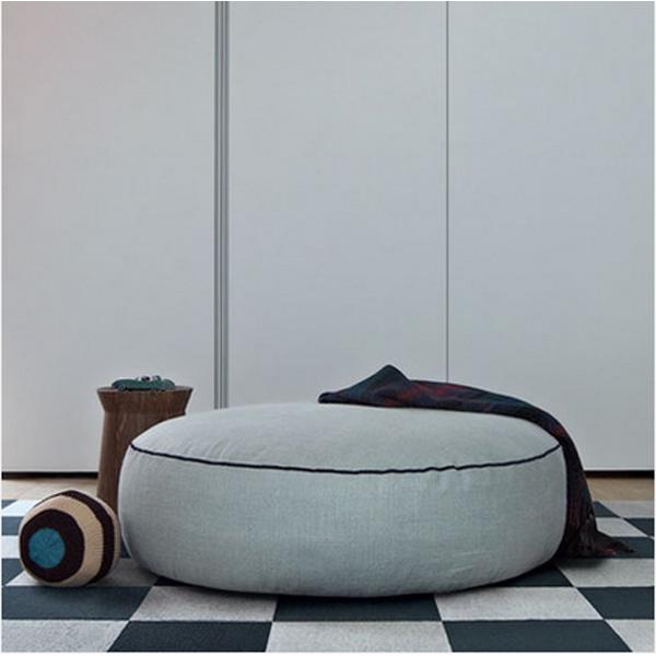Sofá de tela otomana, otoman para sala de estar, moderno pequeño ...