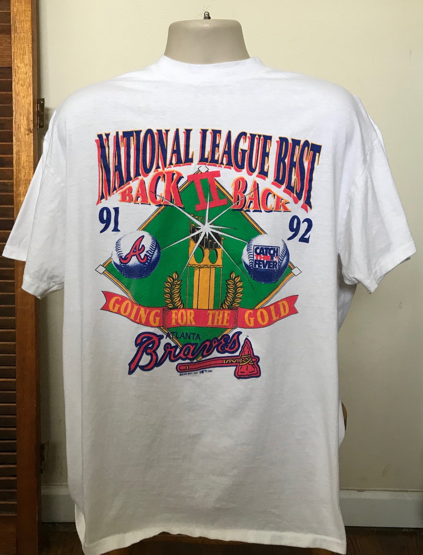 Xl Xxl 1991 1992 Vintage Atlanta Braves T Shirt Vintage Baseball Sports Memorabilia Xl Vintage Baseball Jerseys And Shirts In 2020 Vintage Clothing Men Braves Tshirt Atlanta Braves