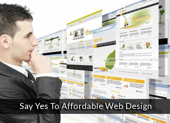 Say yes to affordable web designing