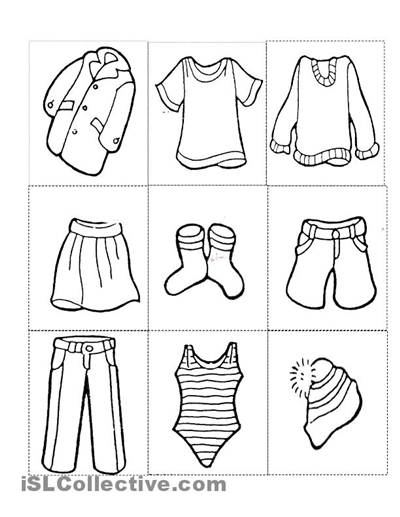 graphic relating to Printable Clothes identified as Pin upon english grammer exercise routines