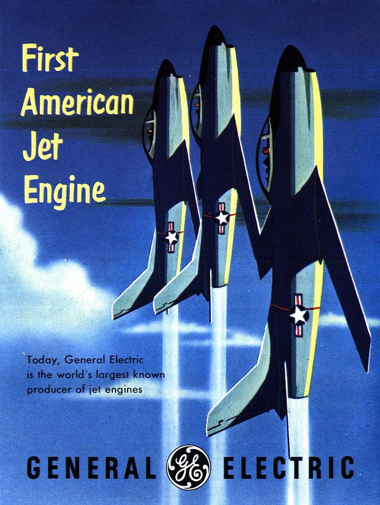 """""""The First"""" ads from General Electric. Aviation posters"""