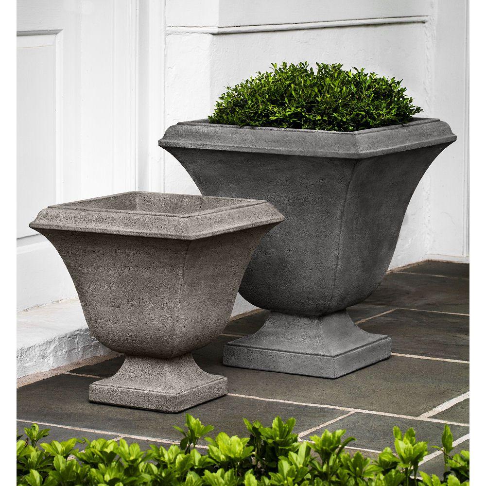 Kinsey Garden Decor Contemporary Trowbridge Outdoor Urn Square Planters Cast Stone Concrete Cement Flower Pots Outdoor Urn Planters Planters