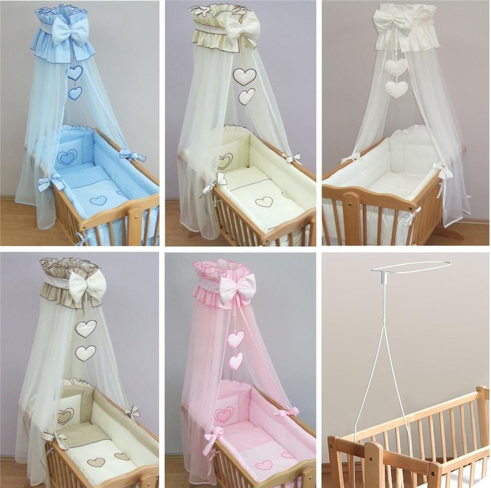Nursery crib bedding accessories cradle bumper set for Drapes over crib