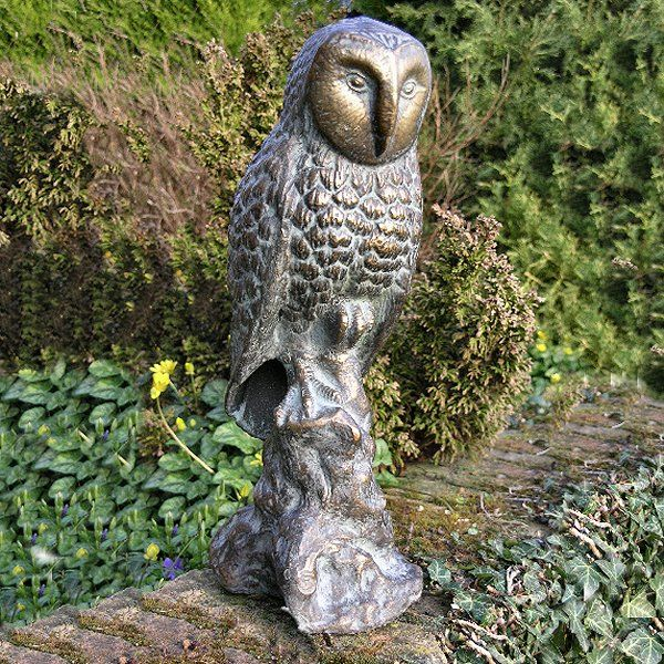 Owl Garden Statue Ornament Harry Potter garden Pinterest
