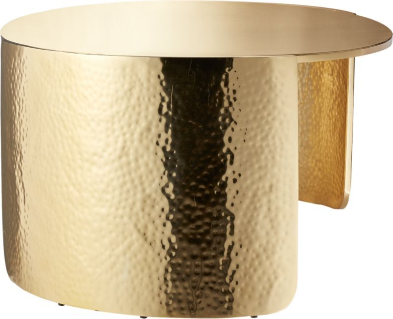 Cuff Hammered Gold Coffee Table Gold Coffee Table Modern Coffee