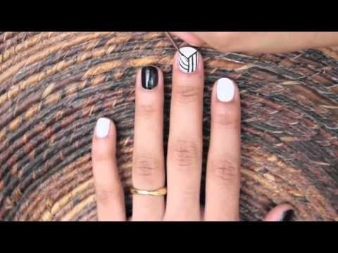 Easy Optical Illusion Nail Art!!, nail art designs for beginners