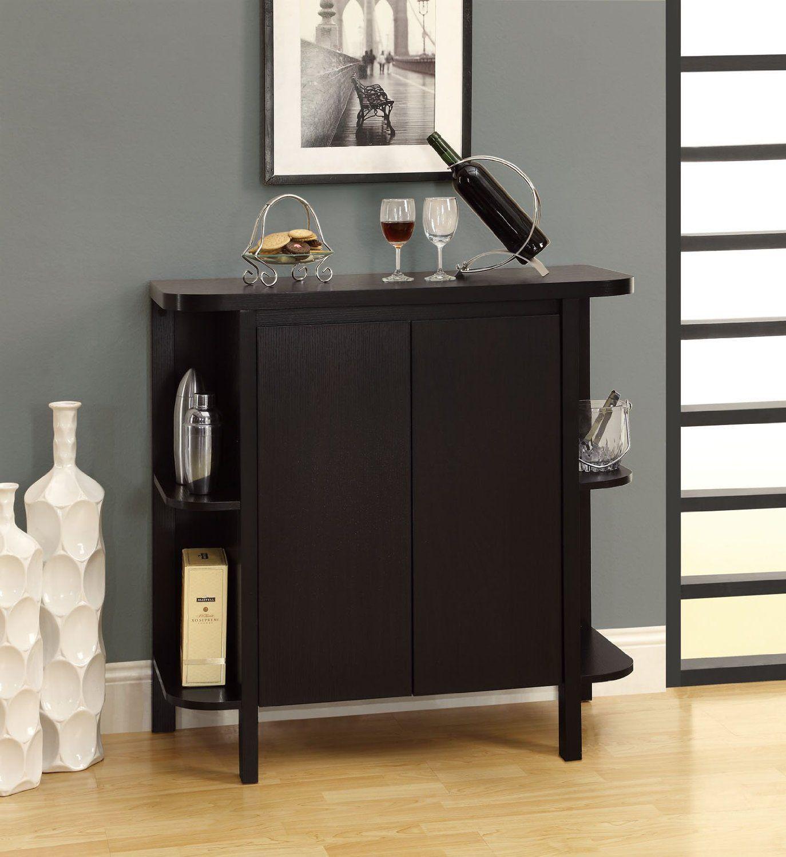 Genial Amazon.com   Monarch Specialties Cappuccino Finish Bar Cabinet   Free  Standing Cabinets