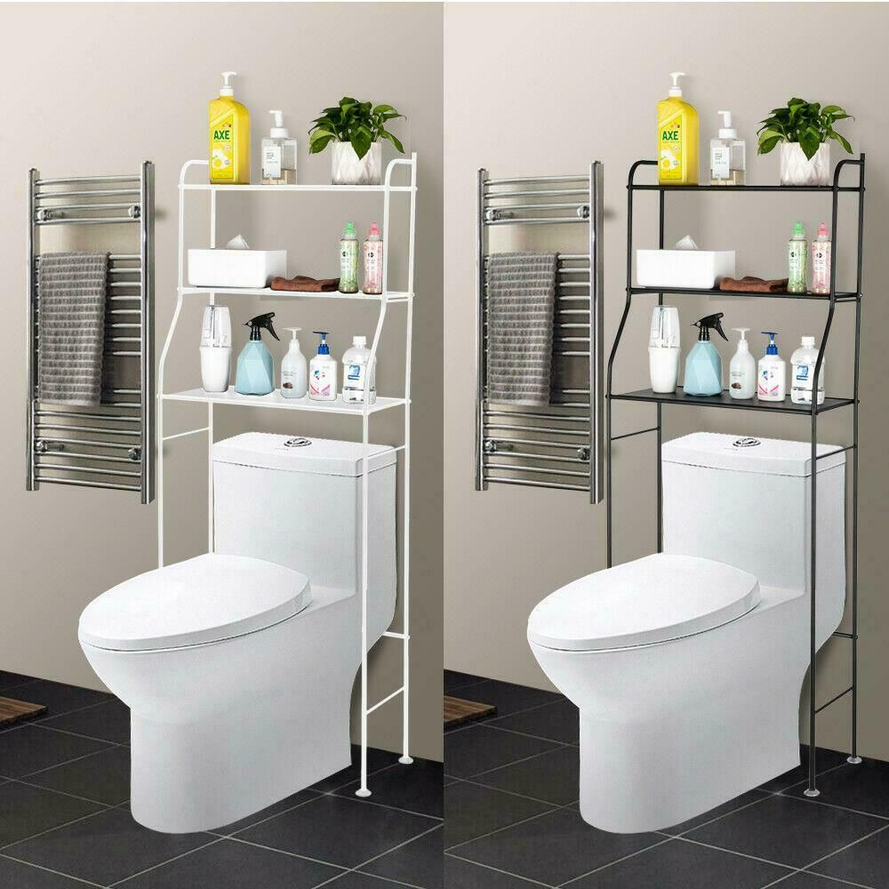 Multicolor The Toilet Storage Rack Bathroom Space Saver Towel Organizer Shelf In 2020 Toilet Storage Bathroom Space Saver Over The Toilet Organizer