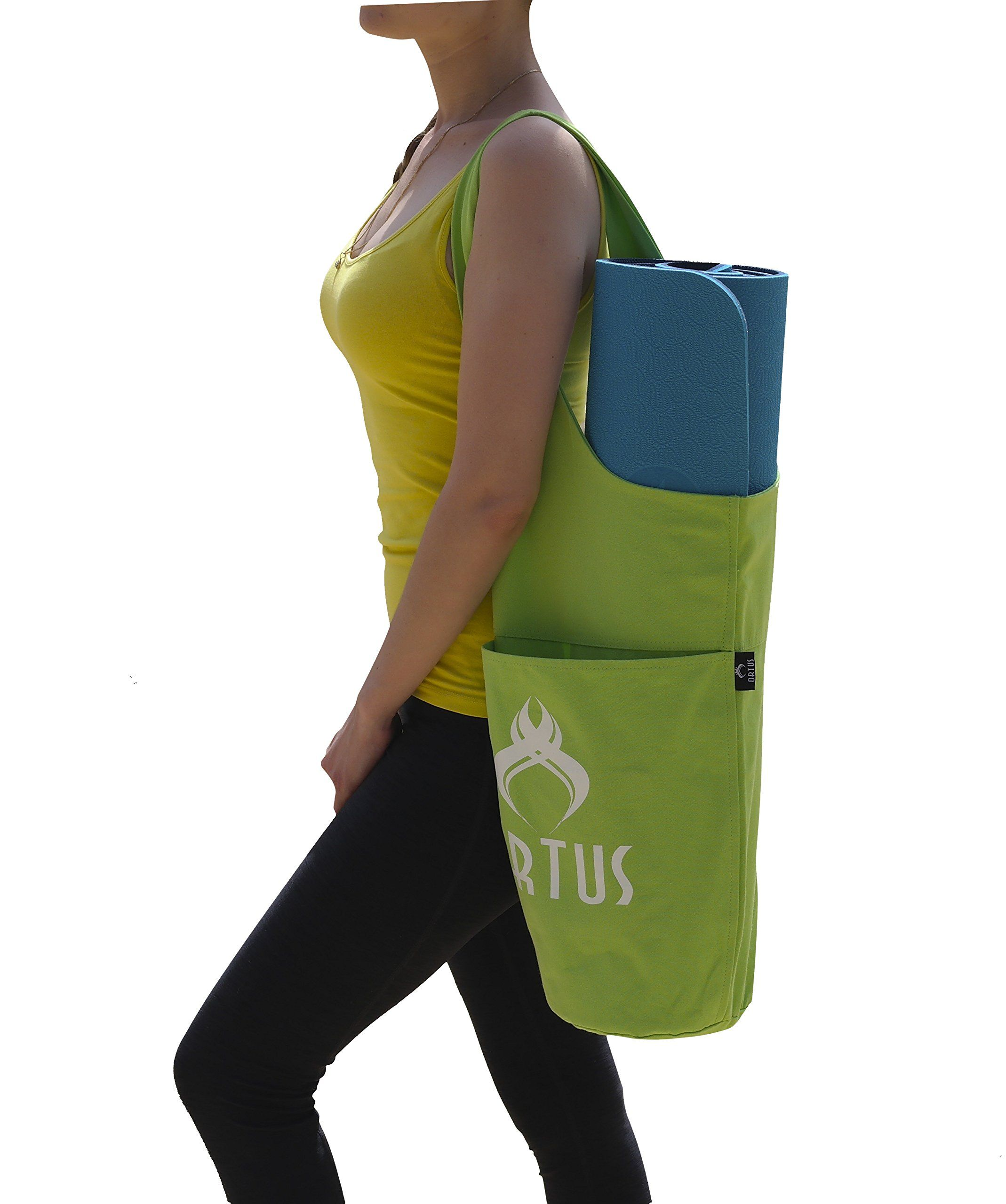Premium Yoga Mat Bag By Ortus Cotton Yoga Exercise Mat Tote Bags Sling Carrier With Large Side Pocket Ioga Yoga Atelier