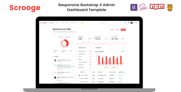 Scrooge Responsive Admin Dashboard Template Stylelib Dashboard Template Templates Invoice Template
