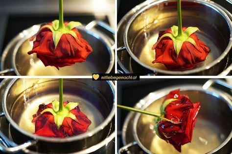 Wie du aus Kerzenresten Rosen haltbar machen kannst | Mit Liebe gemacht