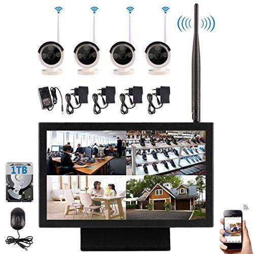 92da918aeaa  0 EDSSZ 4 canali Telecamere IP wireless 720P Sistema di facile accesso  remoto IR Day