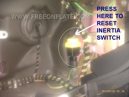 How To Locate And Reset Fuel Cut Off Switch Car Inertia