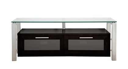 """Plateau Decor 50 BS Wood and Glass 50"""""""" TV Stand in Black Oak"""