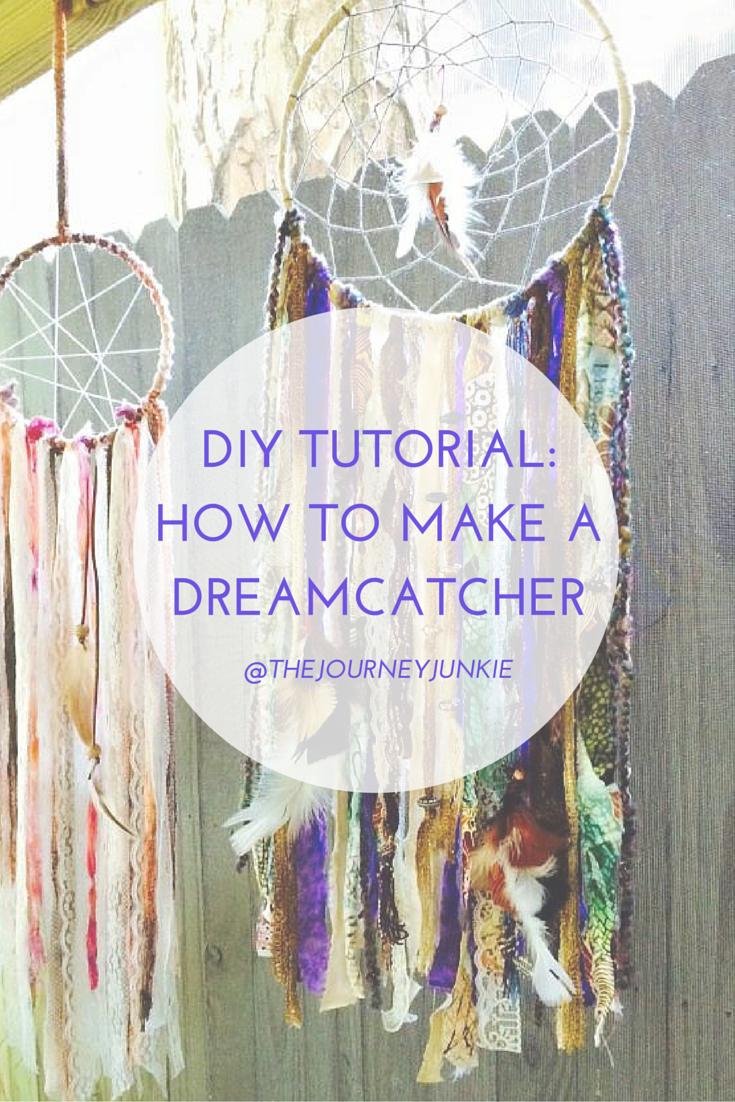 diy tutorial how to make a dreamcatcher - Natrliche Hickory Holzbden