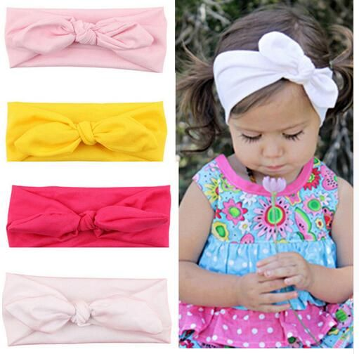 Lovely Toddler Girl Hair Band Solid Bow Baby Kids Bowknot Headband Accessories