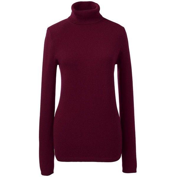 Lands' End Women's Petite Classic Cashmere Turtleneck Sweater ...