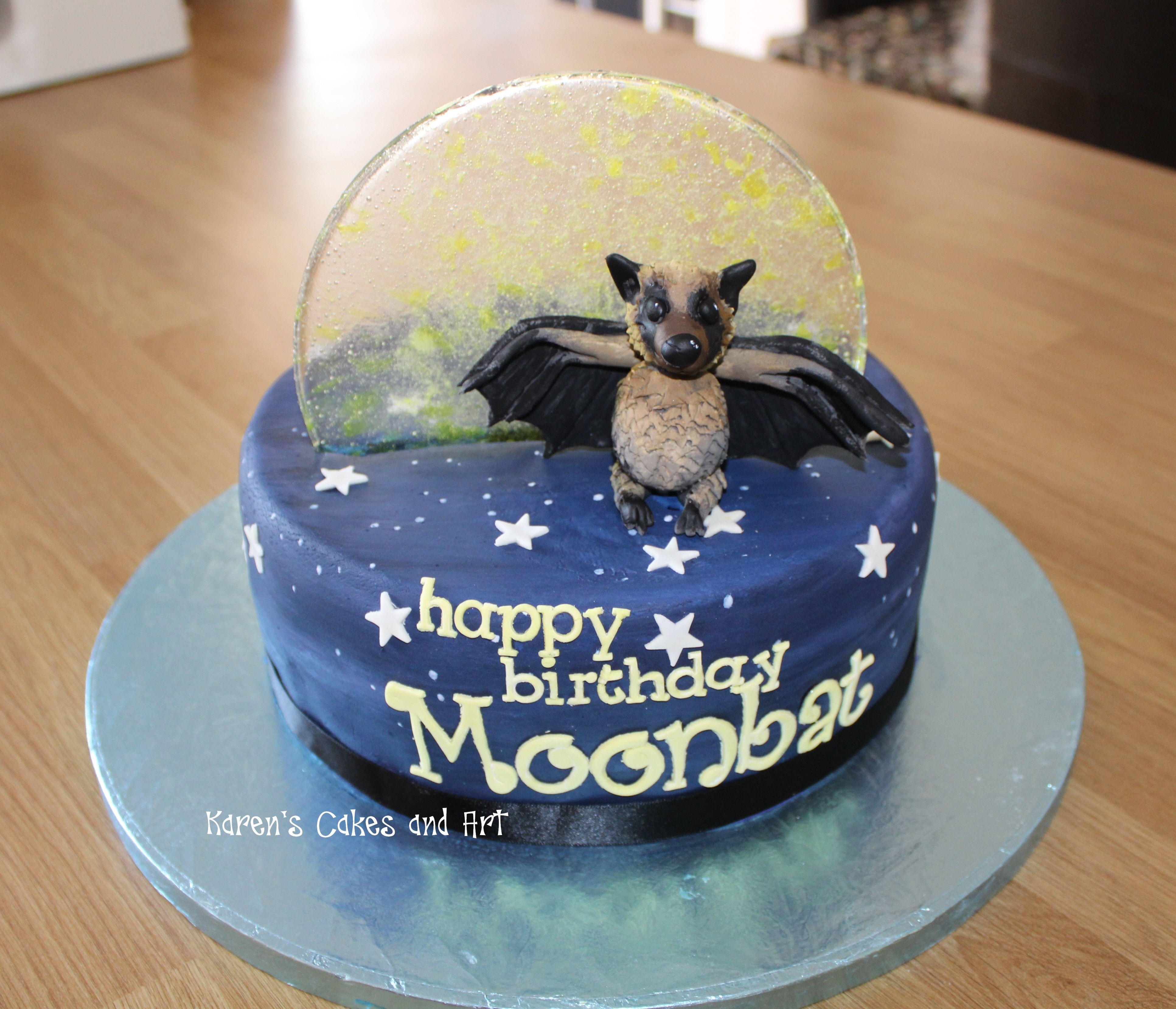 Moon bat cake! https://www.facebook.com/karenscakesandart