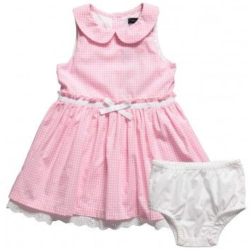 Tommy Hilfiger Pink Dress | Tommy Hilfiger Baby Girls Pink Check ...
