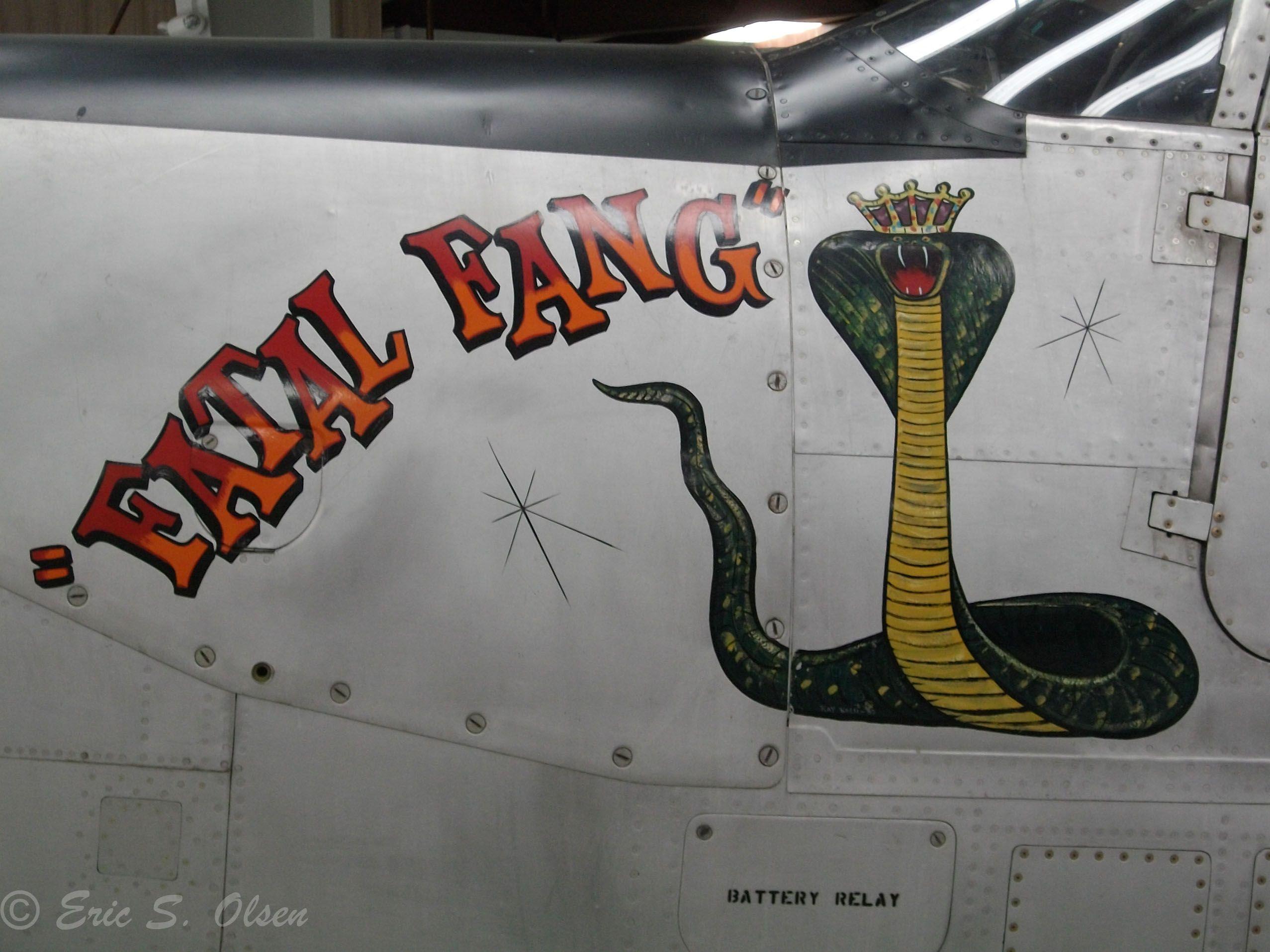 P-63A-7 King Cobra ''Fatal Fang'' at the Yanks Air Museum in Chino, CA.