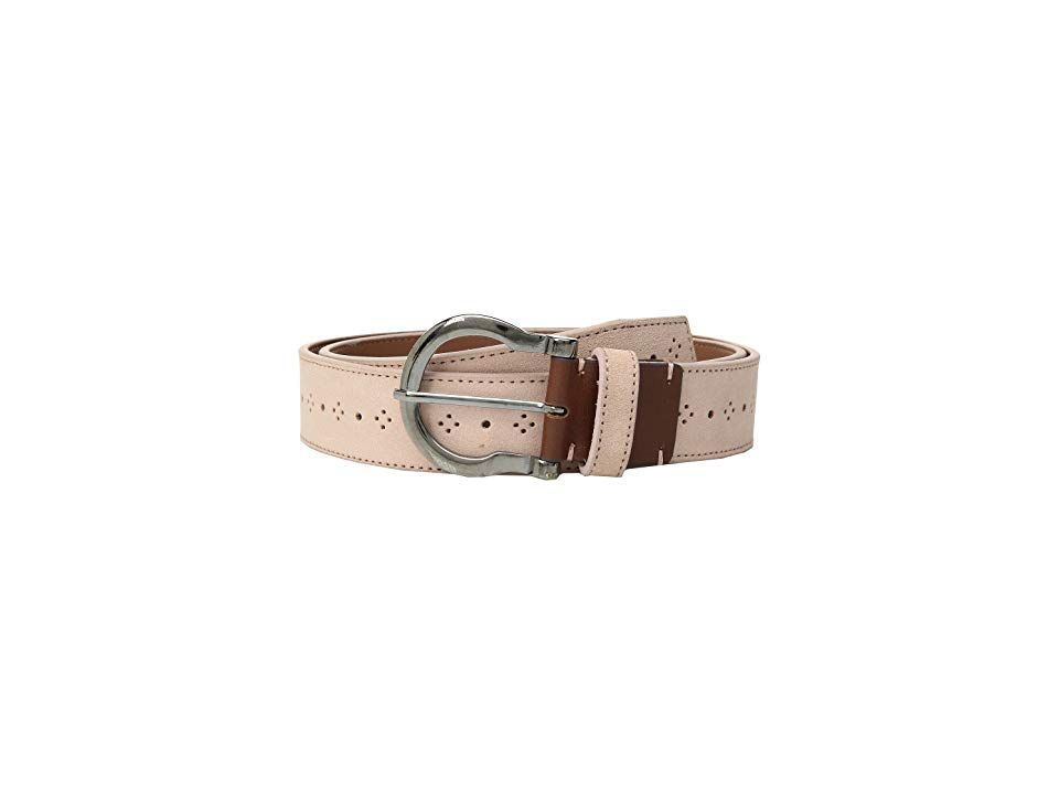Stacy Adams Richmond 34mm Genuine Leather Belt Misty Rose Mens Belts The Stacy Adams Richmond 34mm Genuine Leather Belt is unique and fun Constructed from suede leather w...