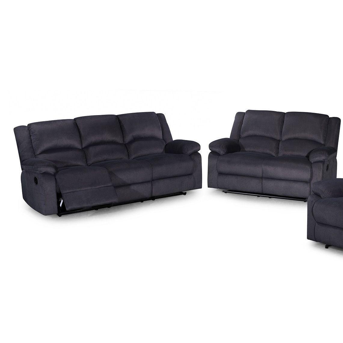 US Pride Furniture Contemporary 2-piece Microfiber Fabric Reclining ...