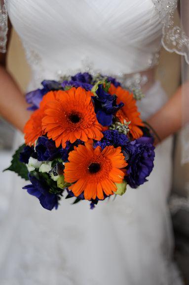 Purple Orange Gerber Daisy Bouquet From Jenn Ryan S Intimate