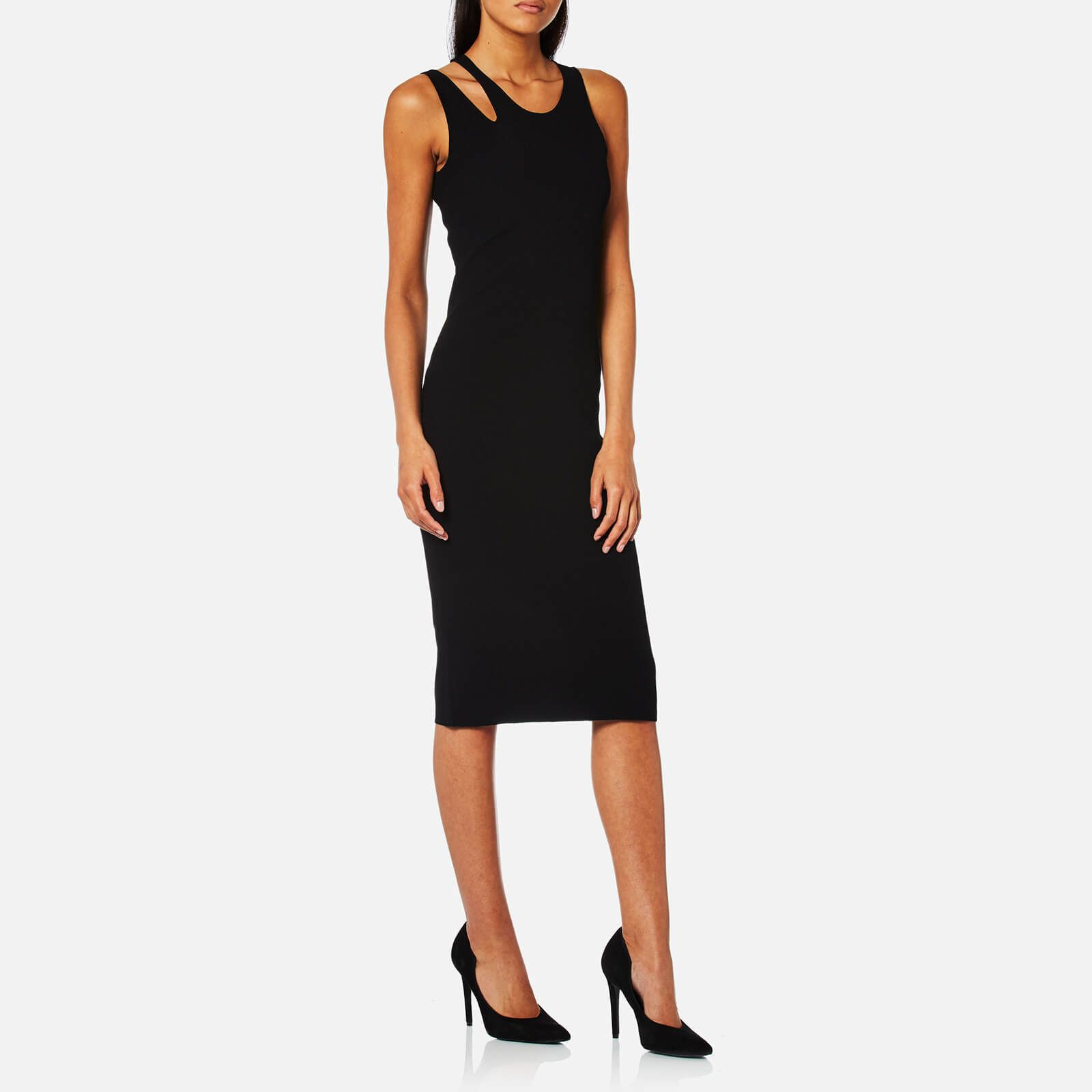 Köp Helmut Lang Wide Rib Dress Black | Klänningar