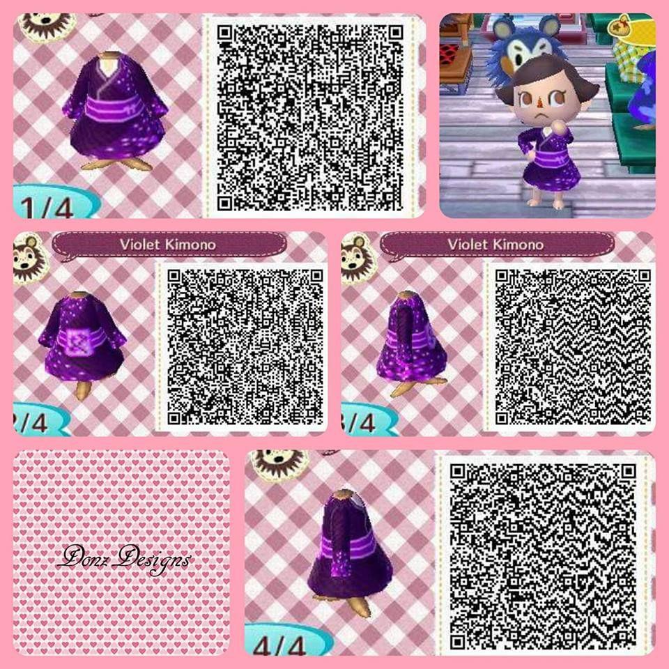 Violet Kimono By Donzdesigns Animal Crossing Qr Animal