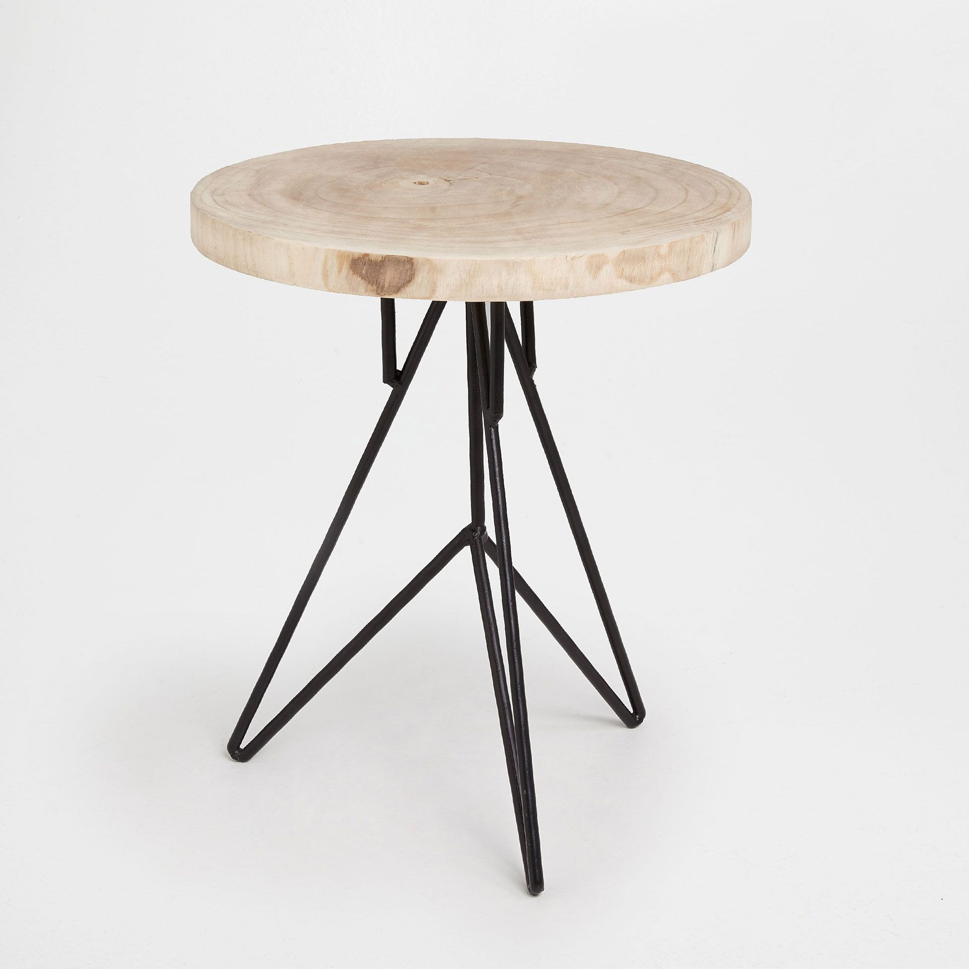 Marvelous Image 2 Of The Product Little Round Table With Iron Legs